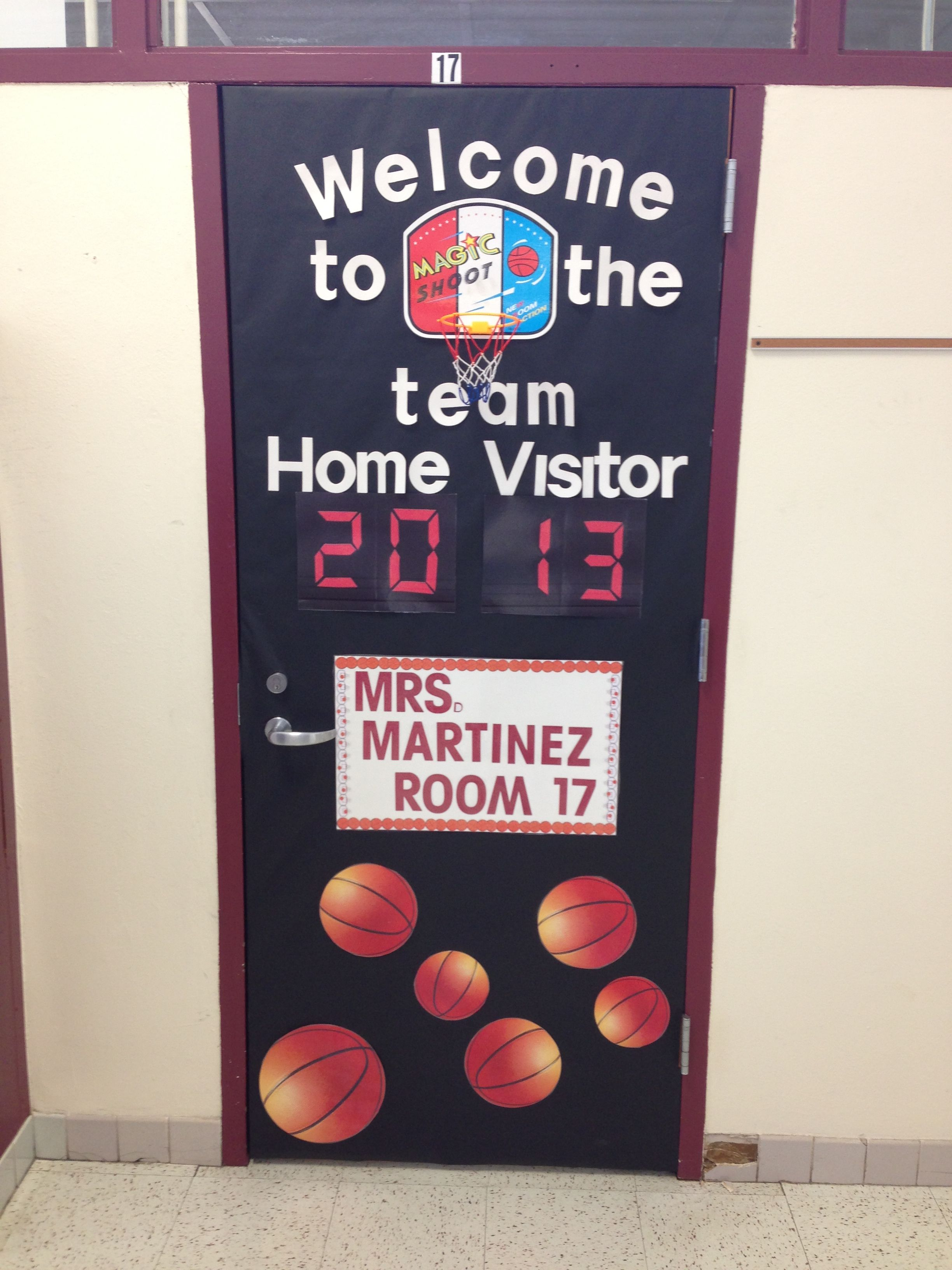 Merveilleux Basketball Theme Door For Our School Sport Theme!