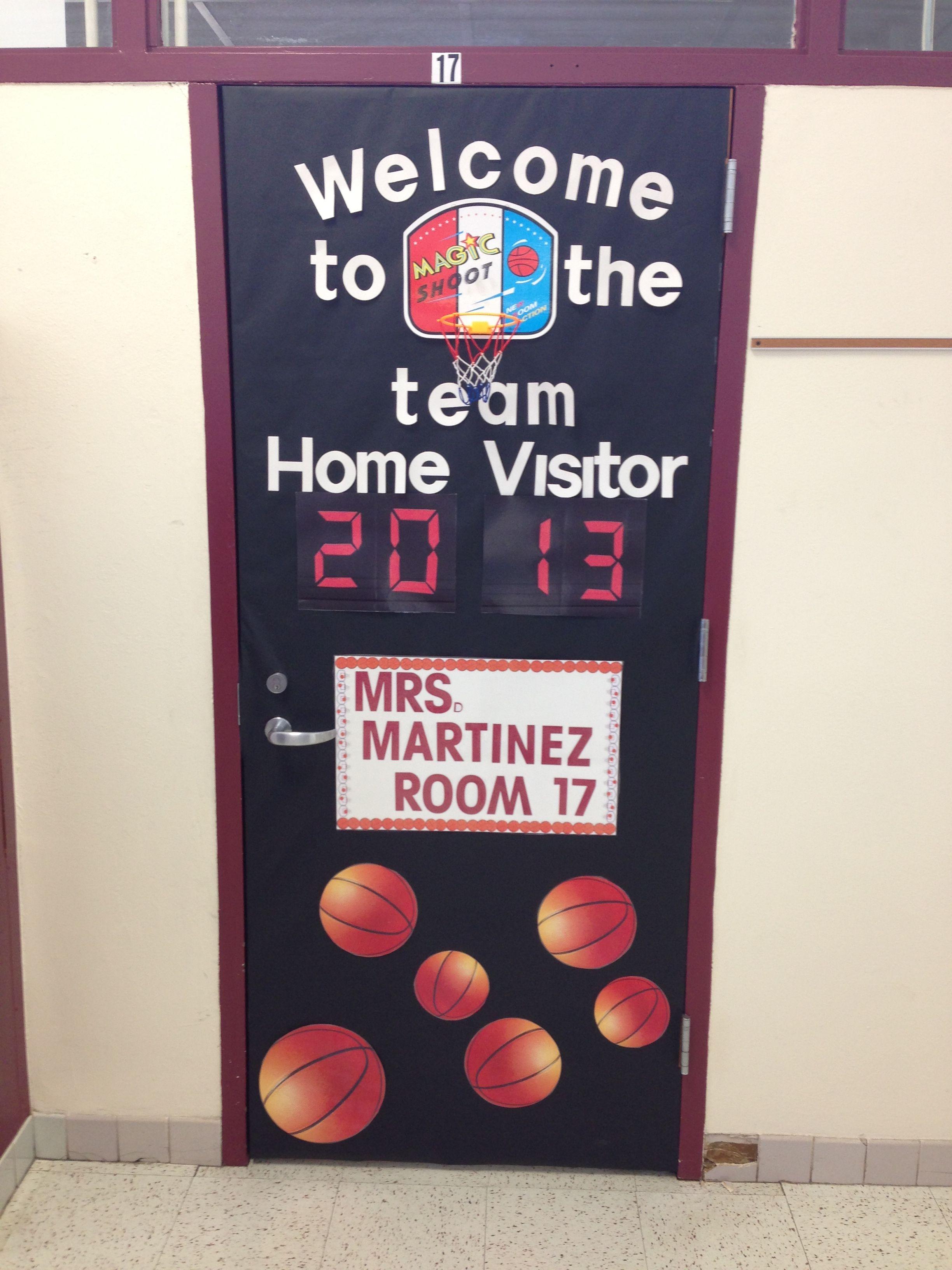 Basketball theme door for our school sport theme! & Basketball theme door for our school sport theme! | Ideas ... Pezcame.Com