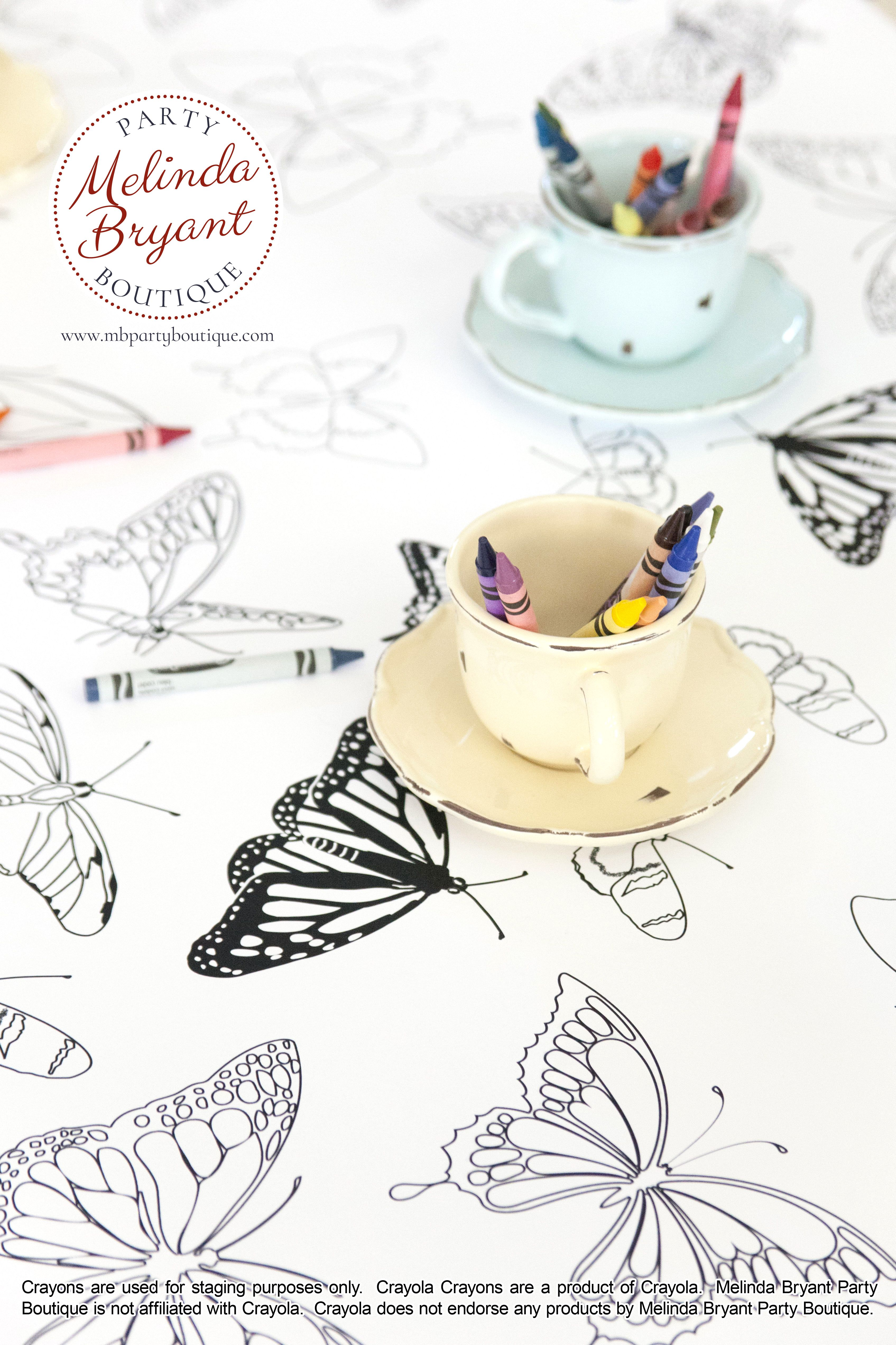 Tea Party Coloring Table Runner Wedding With Kids Kids Table Wedding Childrens Tea Party
