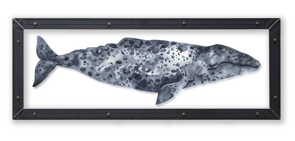 Grey Whale Art Print With Metal Frame 2019 New Beach