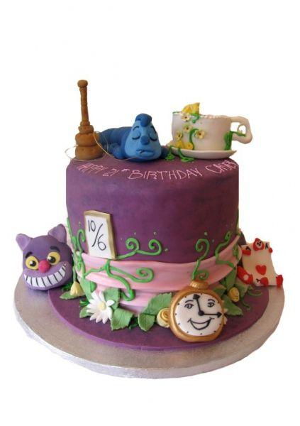 Alice In Wonderland Birthday cake Cakes Pinterest Birthday