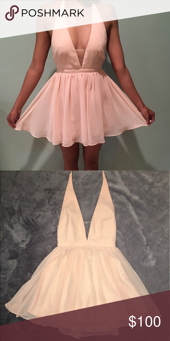Frame and Partners Halter Dress | Neckline, Peach and Elegant
