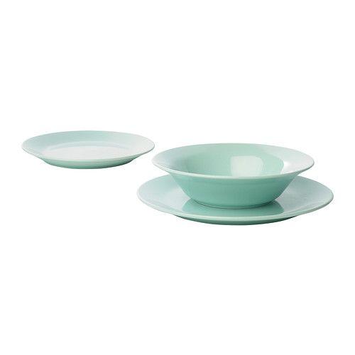 FÄRGRIK 18-piece dinnerware set turquoise - IKEA  sc 1 st  Pinterest & Färgrik | Dinnerware Stoneware and Apartments