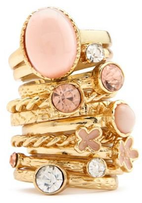 #Charlotte Russe          #ring                     #Stackable #Flower #Ring #Set: #Charlotte #Russe    Stackable Flower Mix Ring Set: Charlotte Russe                                http://www.seapai.com/product.aspx?PID=988432