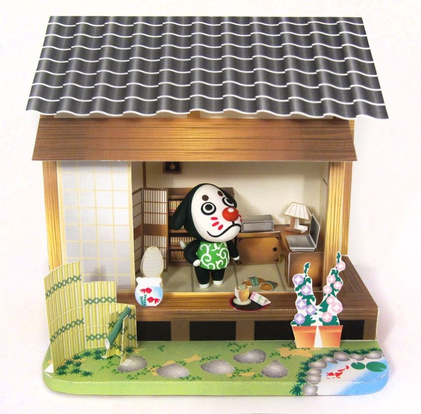 Marcel The Lazy French Dog Is Done Japanese Themed Papercraft