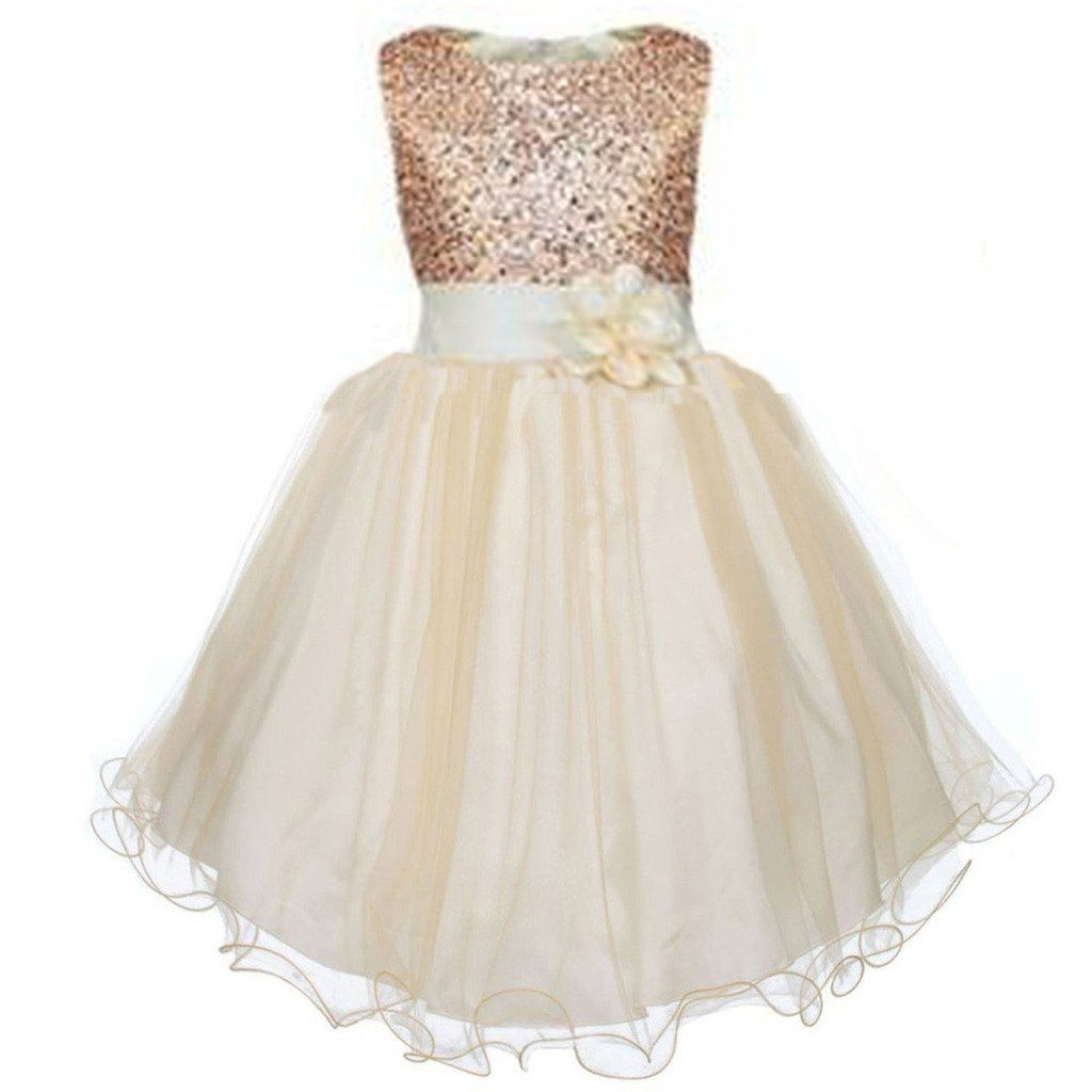 Bronze Flower Girl Dress