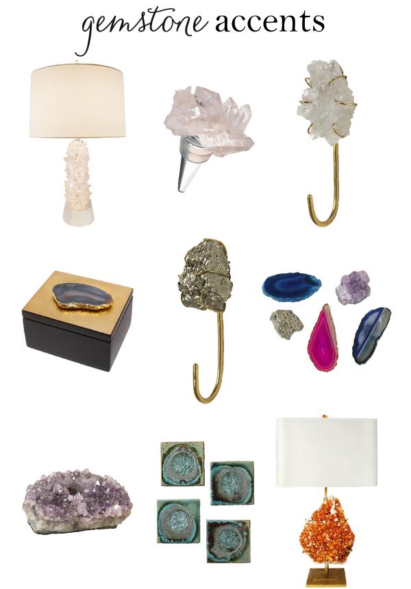 Gemstone Home Decor Trend