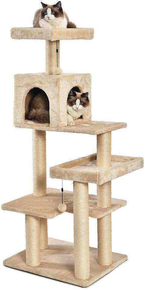 Amazon Com Amazonbasics Extra Large Cat Tree Tower With Condo