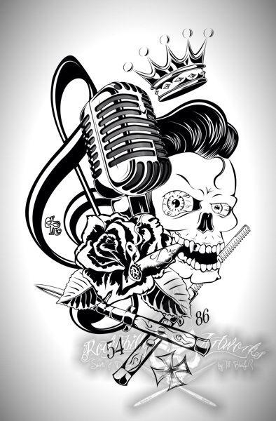 Tattoo | RoCkAbilLy | Tattoo | Rockabilly art, Rockabilly tattoo ...
