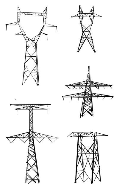 Pet Power Lines Transmission Tower Power Environmental Art