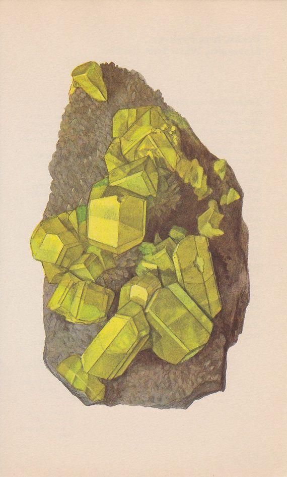// Vintage mineral prints