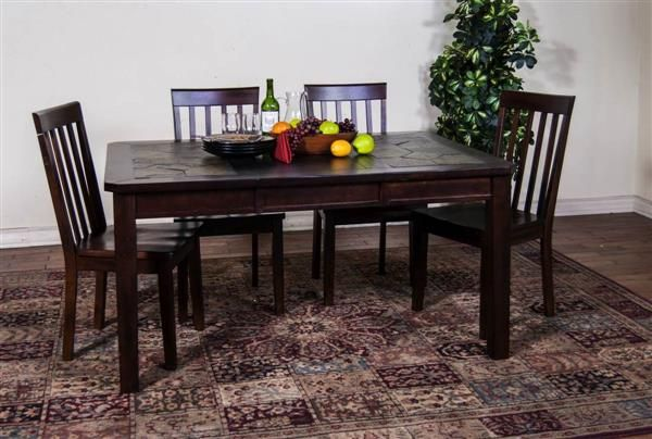 Sunny Designs Santa Fe Dark Chocolate Wood Extension Table Table Extension Table Dining Table