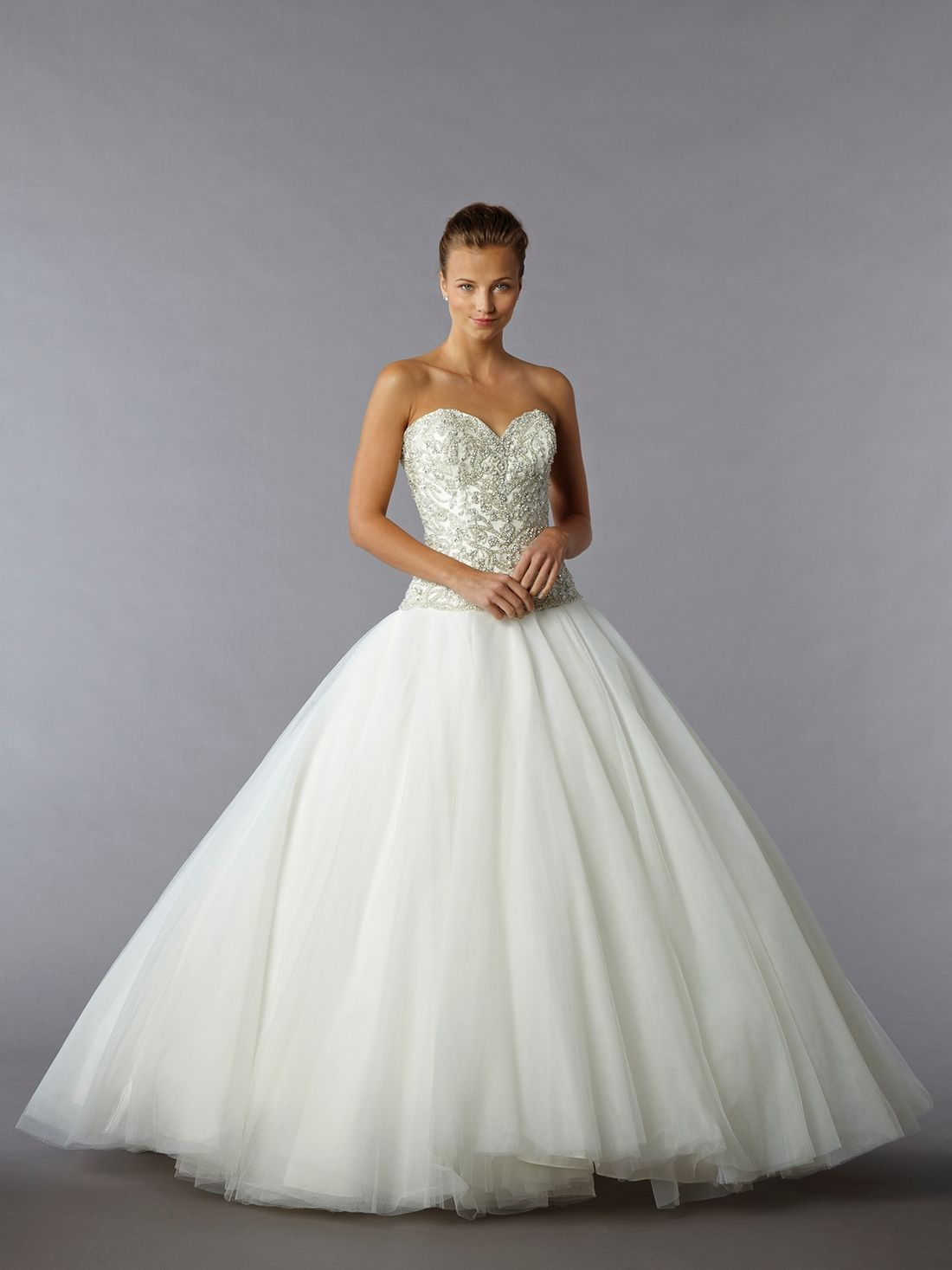 Bridal Gowns Danielle Caprese Princess Ball Gown Wedding Dress With Sweetheart Neckline And Dropped Waist Waistline