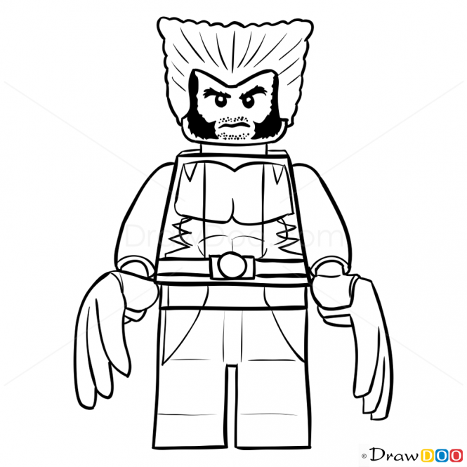 How To Draw Wolverine Lego Super Heroes Superhero Painting How To Draw Wolverine Lego Super Heroes