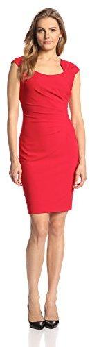 1cd35a09d2 Calvin Klein Women s Cap-Sleeve Side-Ruched Sheath Dress on shopstyle.com
