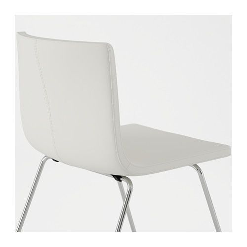 BERNHARD Chair Chrome Plated/mjuk White