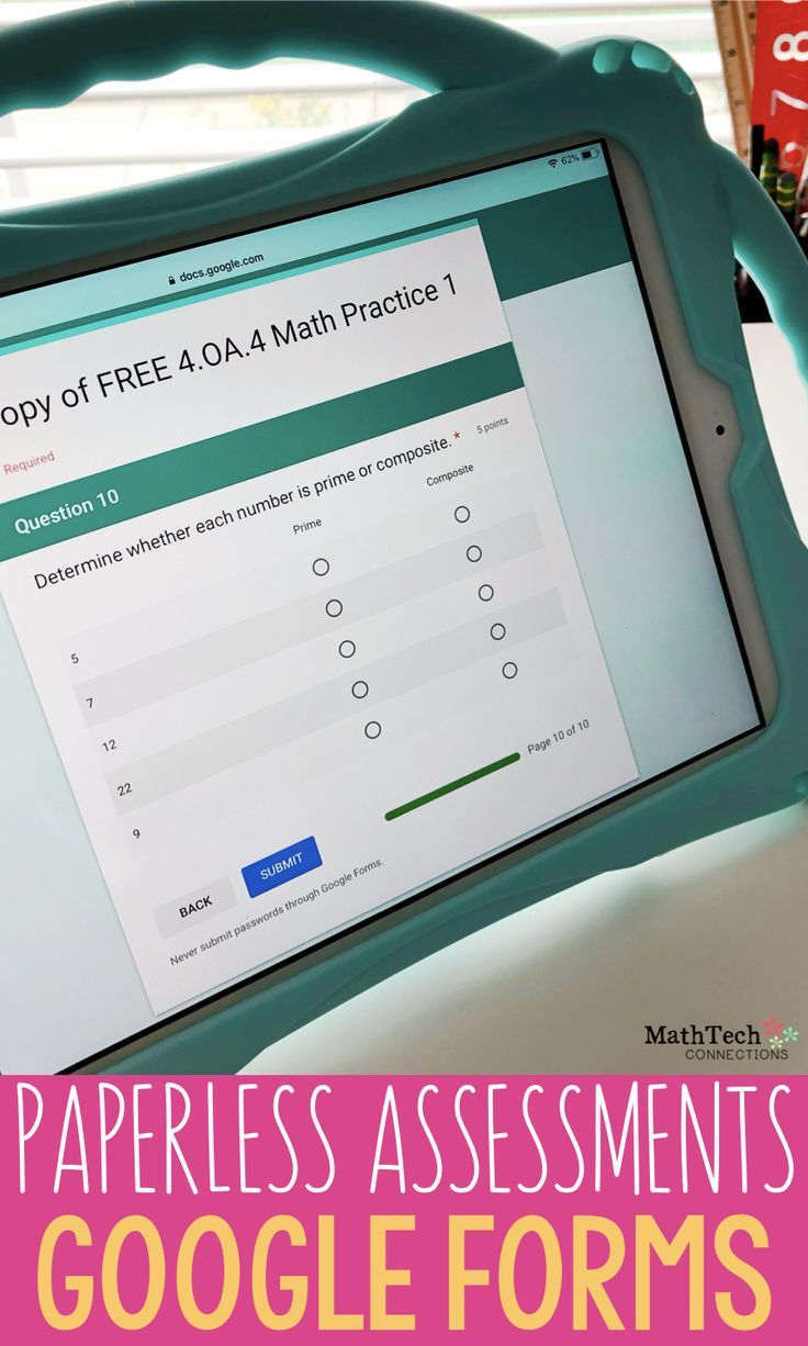 4th Grade Math Google FORMS Operations & Algebraic