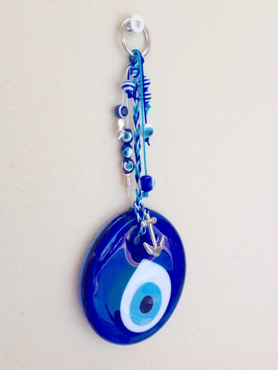 Evil Eye Wall Hanging round evil eye, charm, good luck charm, nazar, talisman, greek