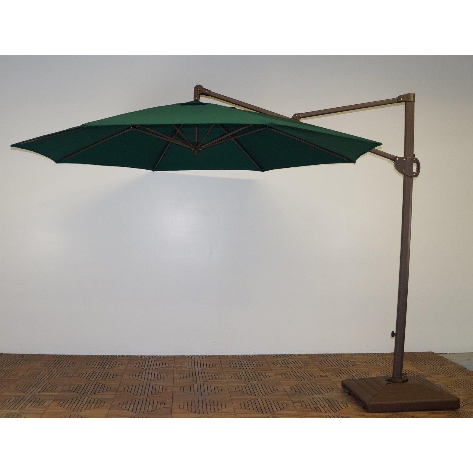 shade trends 11 ft trigger lift cantilever offset umbrella from