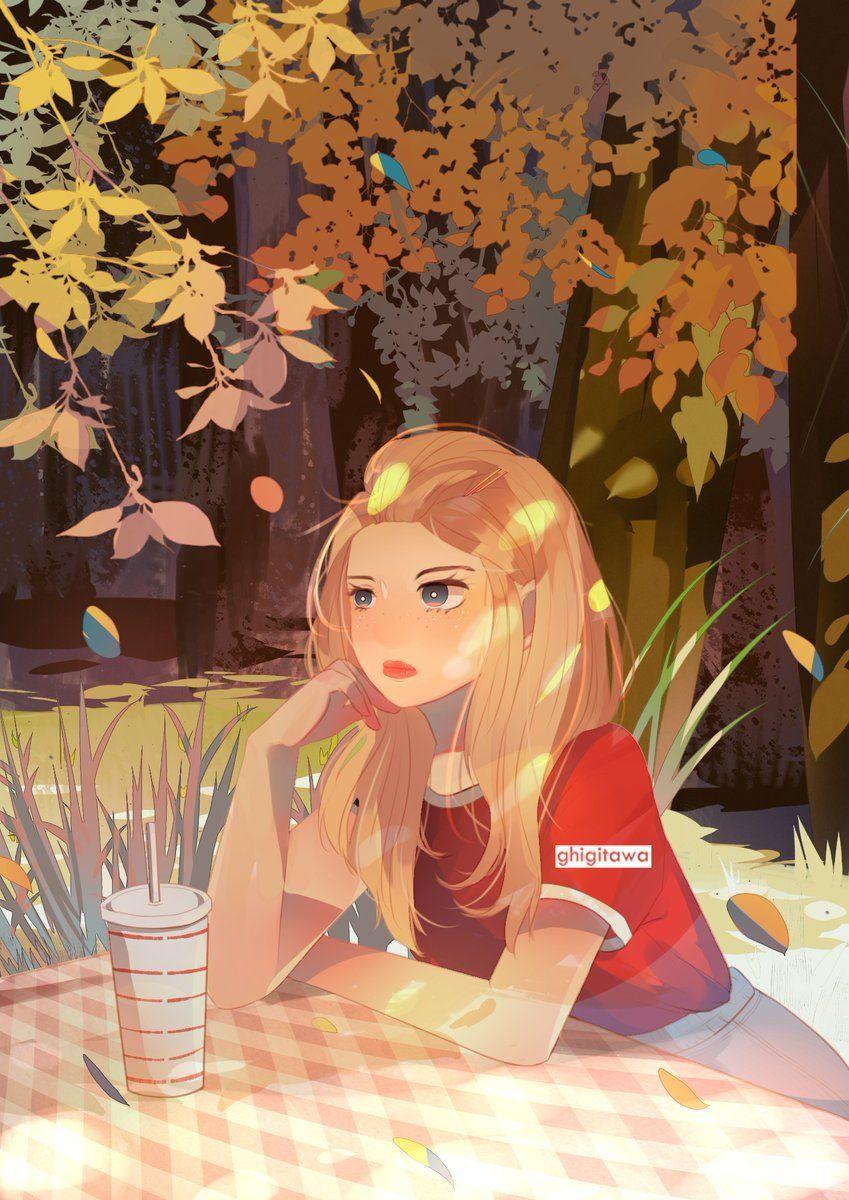 Ghita Working On Comm On Twitter Girls Cartoon Art Cute Art Anime Art Girl