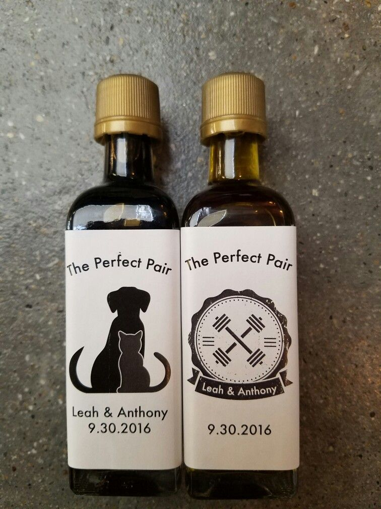 The Perfect Pair Wedding Favor At New Canaan Olive Oil Favors