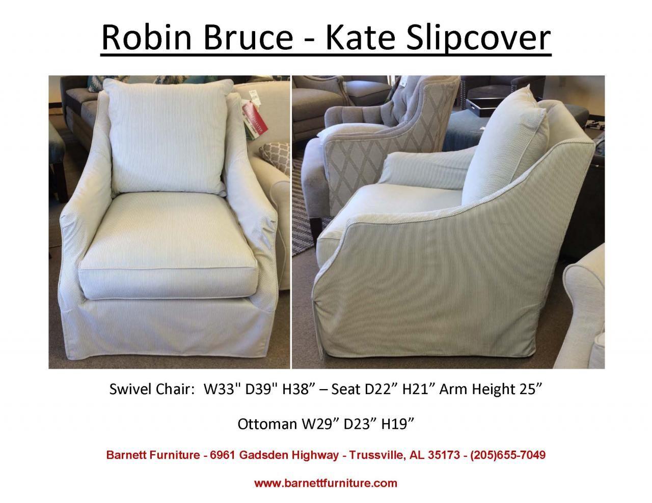 Good Robin Bruce Kate Slipcover Swivel Chair. You Choose The Fabric