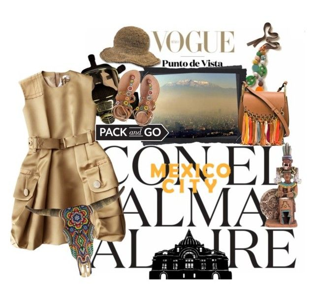 """""""Mexico City"""" by jennifer ❤ liked on Polyvore featuring Boden, Marc Jacobs, Chloé, Laidback London, Our Exquisite Corpse and NOVICA"""