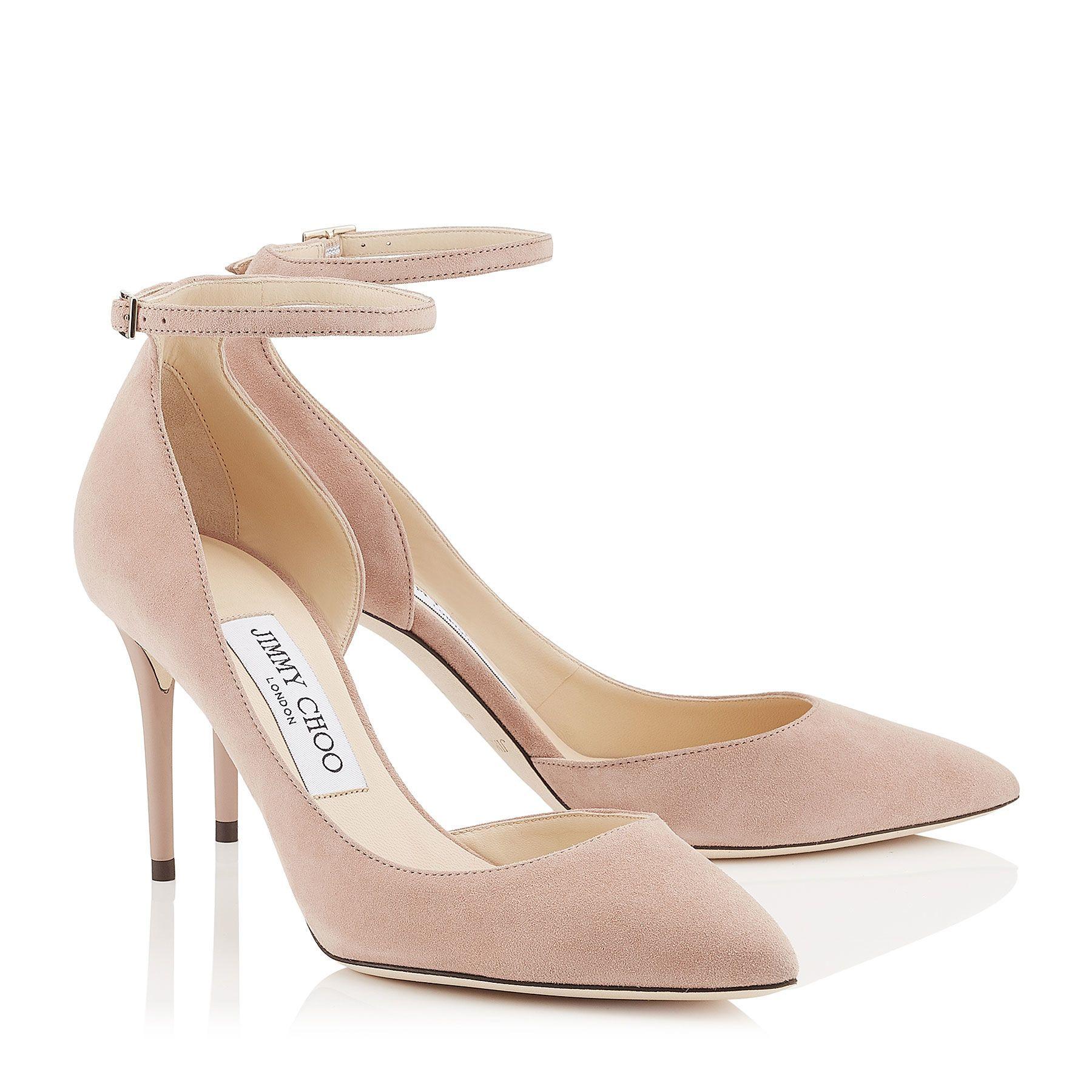 Ballet Pink Suede Pointy Toe Pumps Lucy 85 Pre Fall 17 Jimmy Choo Jimmy Choo Heels Fashion Heels Pink Suede Pumps
