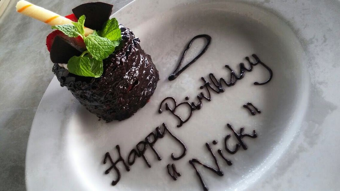 Happy Birthday Mr Nick 09 May 2016 Birthday Cake from J4 Hotels