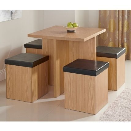 Stockholm Dining Set 5pc Dinning Table With Stowaway 4