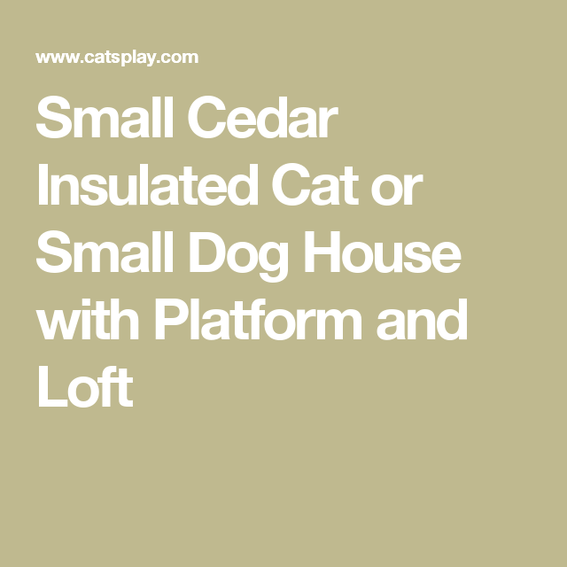 Small Cedar Insulated Cat Or Small Dog House With Platform And Loft Catsplay Superstore Small Dog House Feral Cat House Dog House