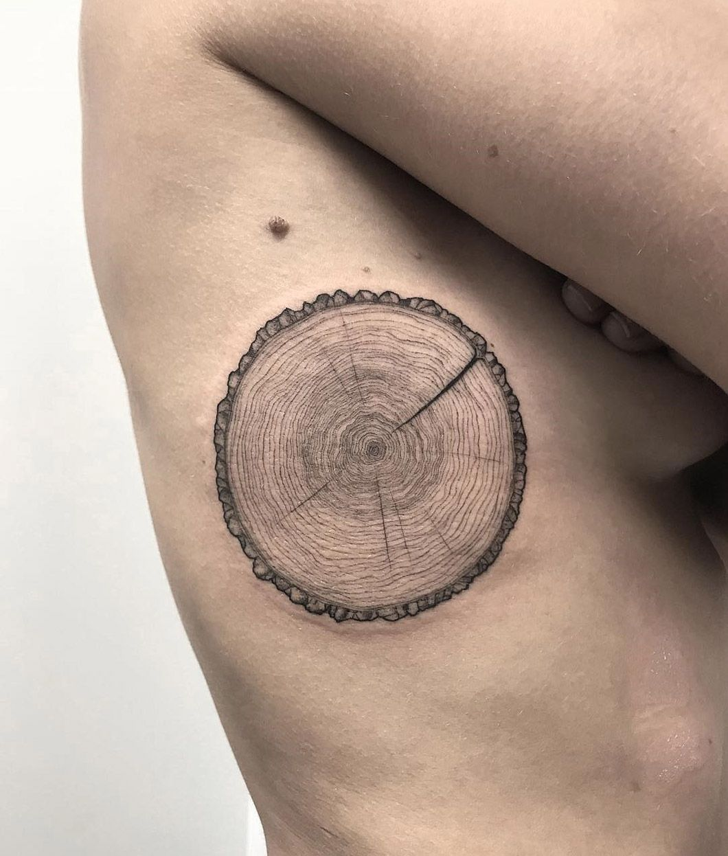 Tattoos for men ring tree trunk section  inked art  pinterest  tree trunks tattoo and