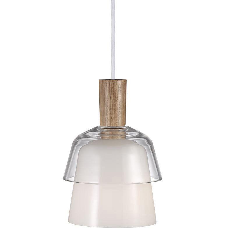 Pendule Lampe e27 verre cuisine métal Modern Blanc Salon