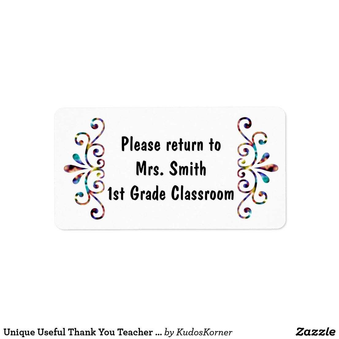 Unique Useful Thank You Teacher Appreciation Book Label
