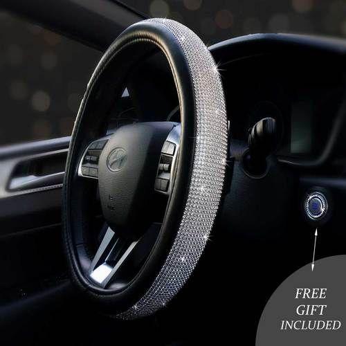 Bling Steering Wheel Cover w/Free Bling Ring Emblem