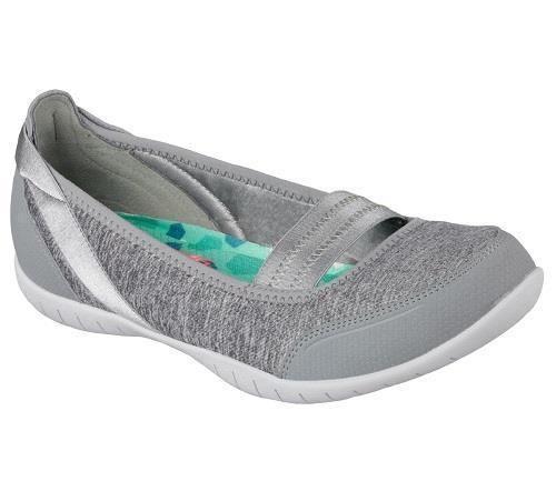 14e0c3a2f6b1 Women s Skechers Atomic-Magnetize 22854 Gray Mary Jane Slip On Walking Shoes