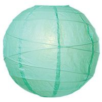 Why we pinned it:  We also like the idea of single colored paper lanterns for a pop of color that coordinate well our setting—Stem or Mint color.  14in Paper Lantern - Mint, Order Online from PartyLights.com!
