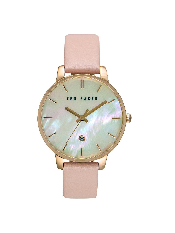 4ec4463da BuyTed Baker TE10026423 Women s Kate Date Leather Strap Watch