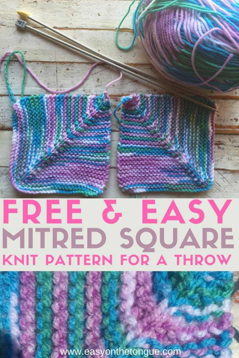 Free Easy Knit Square Pattern to Make a Quick Throw | Square ...