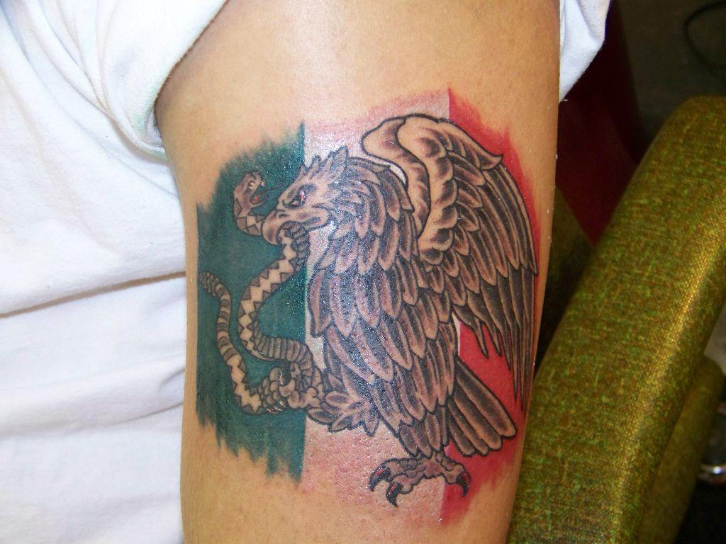 Mexican Flag Tattoo