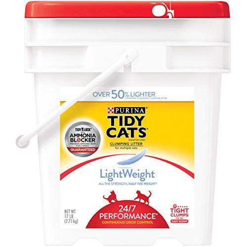 Purina Tidy Cats LightWeight 24/7 Performance Clumping Litter for Multiple Cats - (1) 17 lb. Pail * You can get additional details at the sponsored image link.