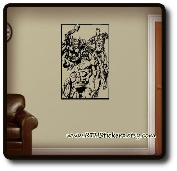 AVENGERS Inspired DiY Wall Art. Self Stick Vinyl by RTHStickerz, $10.95