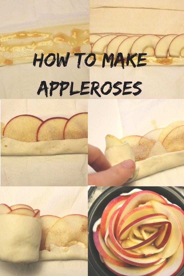 Apfelrosen aus Blätterteig  How to make appleroses Apfel | Muffins | Backen | Kuchen | Apfelkuchen Apfel Rosen #apfelrosenblätterteig