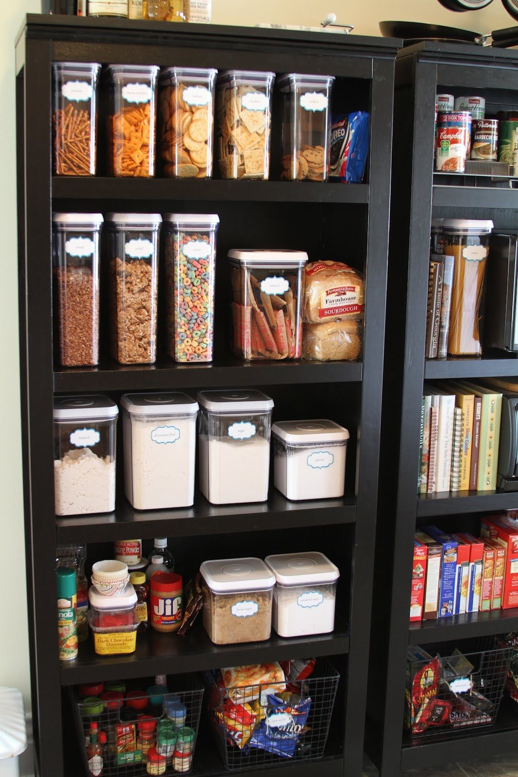 Awesome Pantry Organization Pantry Oxo Pop Bookshelf Pantry