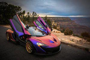 Mclaren P1 in purple/orange color [850x567]