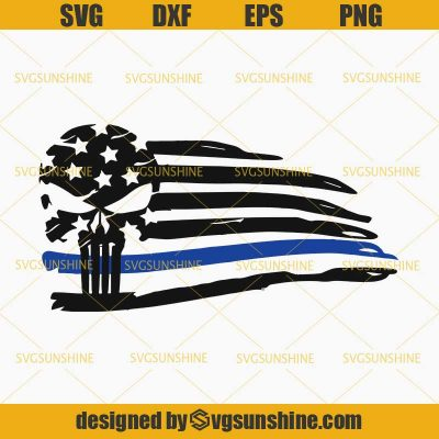 Police Blue Line Svg American Flag Thin Blue Line Svg Police Svg Skull Svg Svgsunshine Thin Blue Lines American Flag American