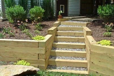 Best Stacked Timbers Retaining Wall Maybe Better For Odd 640 x 480