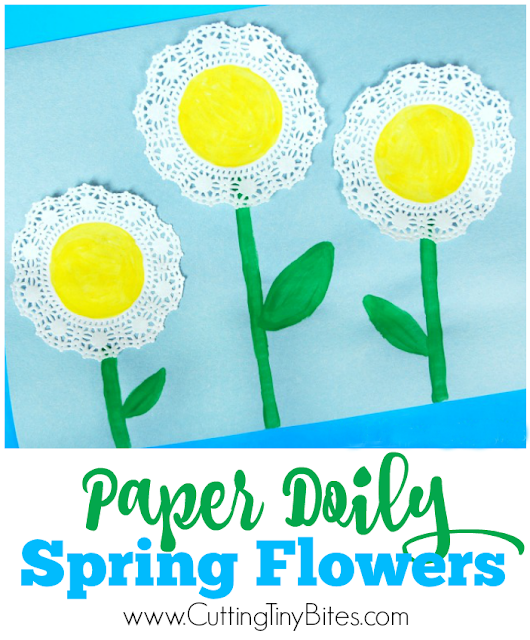 Sweet And Simple Spring Flower Craft For Toddlers Preschoolers