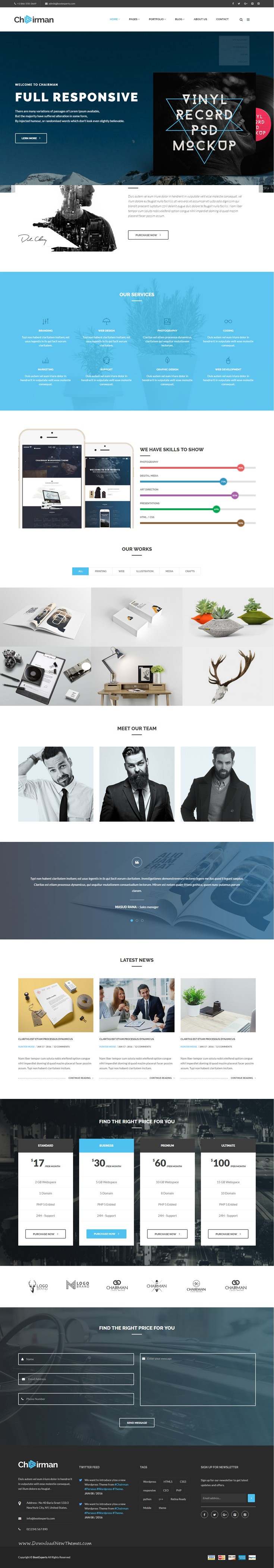 Chairman - Multi-Purpose HTML5 Template | Corporate website ...