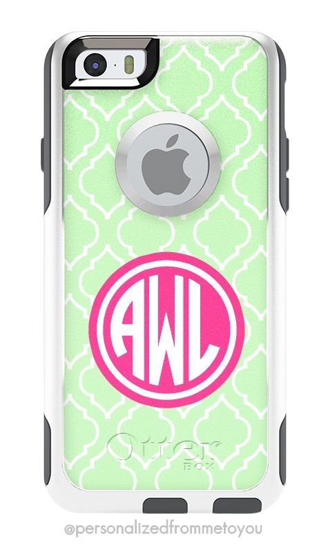 3e8118f9c75 Monogrammed iPhone 6 Otterbox Commuter Cases